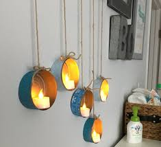 gorgeous lighting. step 10 hang and place tea lights in cans gorgeous lighting