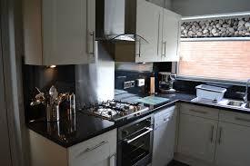Black Splashback Kitchen Ivory Kitchen With Black Worktops Cliff Kitchen