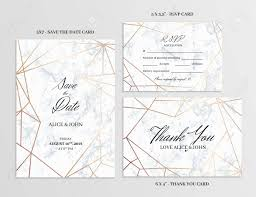 Save The Date Cards Template Wedding Set Save The Date Thank You And R S V P Cards Template