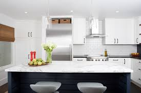 marble and subway tiles for kithen the perfect mix