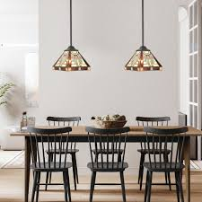 Tiffany Dining Room Lights Bonlicht One Light Mini Pendant Light Fixtures Tiffany Style Oil Rubbed Bronze