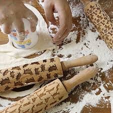 Patterned Rolling Pin Fascinating Newest Wooden Rolling Pin For Mastic Embossing With Pattern Fondant