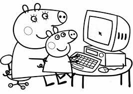 Small Picture Dibujo Peppa Pig para Colorear Pinta y colorea tus dibujos