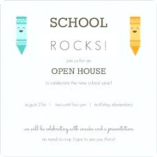 Open House Business Invitations Open House Invitation Wording Template For School Cafe322 Com