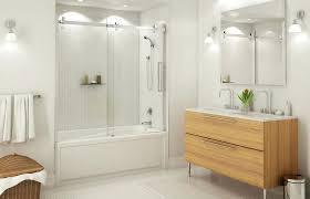 bath doors glass frameless bathtub kohler tub