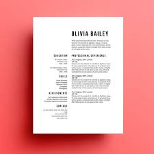 Instant Resume Templates Inspiration Resume Template Cover Letter Instant Download