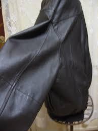 vintage leather er jacket