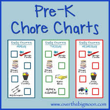 Pre K Job Chart Pictures Little Kid Chore Charts Ages 2 4 Chore Chart Kids