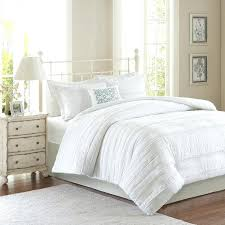 linen duvet cover king white ruched duvet cover white twin madison park isabella 2 in 1