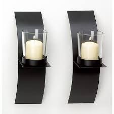 pc set black metal wall sconce candle holder wired sconce modern