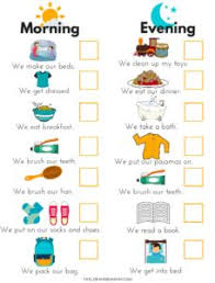19 Best Toddler Routine Chart Images Routine Chart