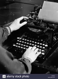 Typing Business Letter 1930s Womans Hands Typing Business Letter At Manual