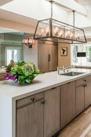 sausalito kitchen inspiration for a mid sized transitional u shaped kitchen remodel in san francisco with brookside kitchen lighting