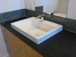 How To Install Glass Tile Backsplash In Bathroom