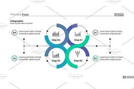 Four Step Process Chart Design Infographic Templates