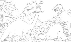 Disegni Per Bambini Da Stampare E Colorare Dinosauri By Megghynet