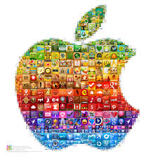 Example Of A Collage Collage Of One Of Apples Logos Composed Of Appstore App