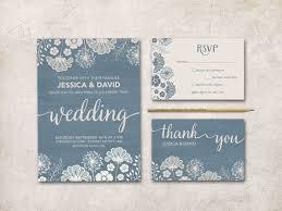 Printable Wedding Invitation Dusty Blue Wedding Invitation Rustic Wedding Invitation Printable