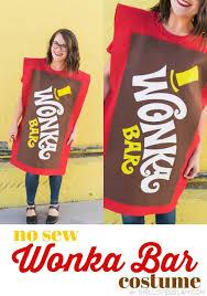 wonka chocolate bar costume. Interesting Costume No Sew Wonka Bar Costume With Chocolate D