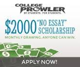 2000 No Essay College Scholarship College Prowler No Essay Scholarship