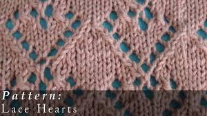 Knitted Heart Pattern Inspiration Pattern Lace Hearts YouTube