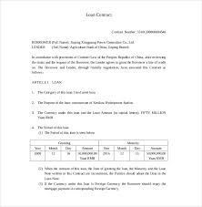 Loan Repayment Contract Free Template Adorable 44 Loan Contract Templates DOC PDF Free Premium Templates