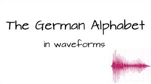 Some letters are pronounced very similar to the english pronunciation, but some others are a little different. The German Alphabet Pronounced From A To Z Plus Waveforms Youtube