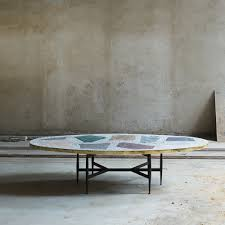 Artsy Coffee Tables Rooms Magic Stone Oval Coffee Table 2016 Available For Sale
