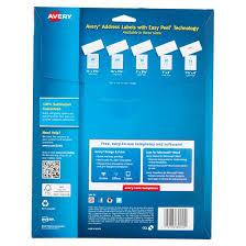 Avery Address Lables Avery 8160 Easy Peel White Inkjet Address Labels 750 Count