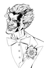 Printable joker coloring pages