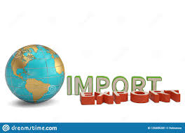 Imports Business Imports And Exports Words And Globe Business Trade Global