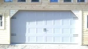 16x8 garage door image of panels rough opening