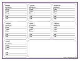 Weekly Meal Plan Worksheet How To Meal Plan