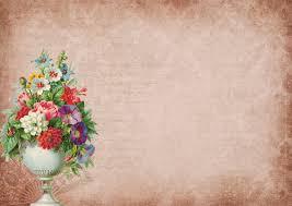 Gratis Afbeeldingen Wijnoogst Bloemen Oud Doopvont Papier