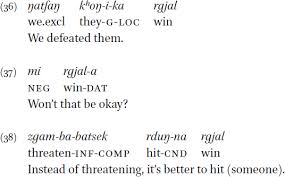 sentences in a grammar of purik tibetan