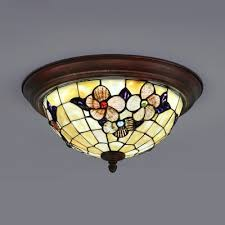 restaurant dome ceiling lamp stained