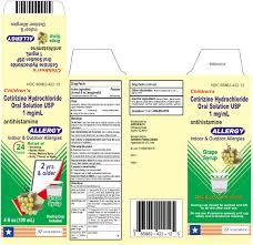 childrens cetirizine hydrochloride allergy