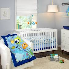 monsters on the go 3 piece crib bedding set