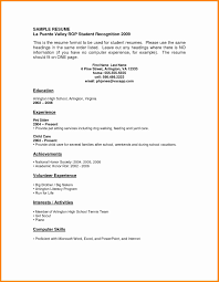 Template Fantastic Resume For High School Graduates No Experience On