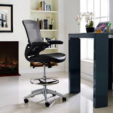 office drafting chair. Modway Attainment Vinyl Drafting Stool In Black Office Chair A