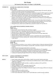 Collaboration Engineer Resume Samples Velvet Jobs