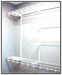 wire shelves for closet shelving design ideas keep falling closetmaid
