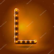 Lighted Letter L Capital Letter L Letter Stock Vector Illuland 53457813