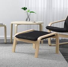 ikea poang footstool black cushion for