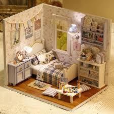<b>Diy Wooden Miniature</b> Doll House Furniture Toy Miniatura Puzzle ...