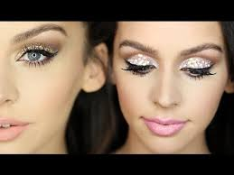 my go to is glittery eyeshadow and there s a ton of new year s eve makeup tutorials on you if you need some inspo