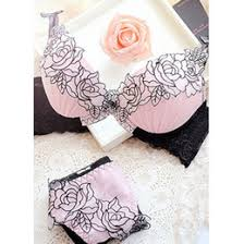 sexy elegant bra and panty women set candy colors lady underwear satin lace embroidery bras panties sets b cup