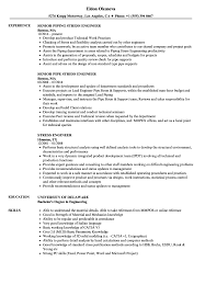 Engineering Resume Examples Stress Engineer Resume Samples Velvet Jobs 16