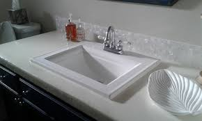 bathroom backsplash. White Groutless Pearl Shell Tile Bathroom Vanity Backsplash