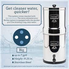 berkey water filter fluoride. *Big Berkey® System (2.25 Gal) Berkey Water Filter Fluoride H